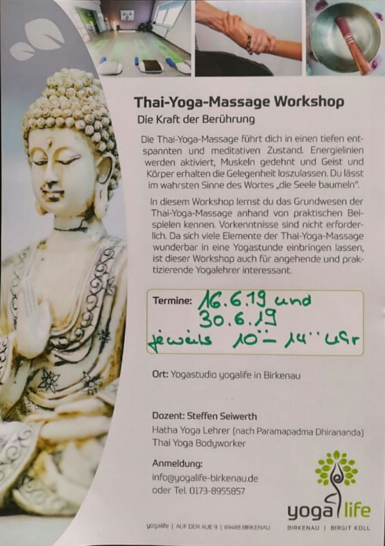 Thai Yoga Massage Workshop in Birkenau
