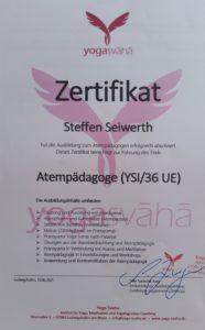 Ausbildung zum Atempädagogen im Yogasvaha abgeschlossen