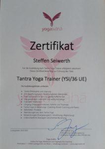 Ausbildung zum Tantra Yoga Trainer abgeschlossen